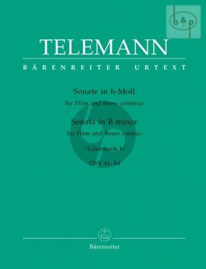 Sonate h-moll TWV 41:h4 Flöte-Bc