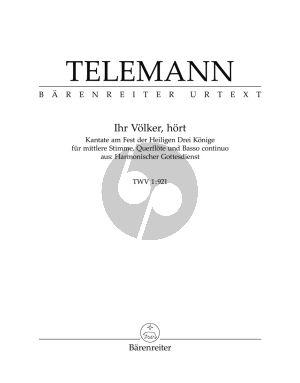 Telemann Ihr Volker Hort TWV 1:921 Mittelstimme-Flote und Bc (Gustav Fock)