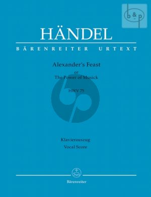 Alexander Fest HWV 75 (Soli-Choir-Orch.) (Vocal Score)