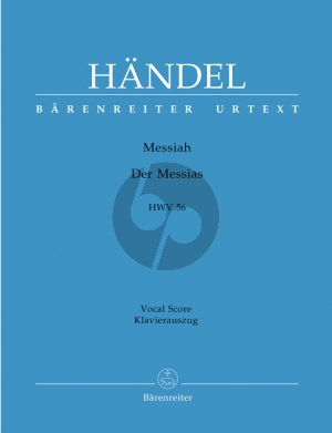 Handel Messias / Messiah HWV 56 Vocal Score (German/English) (Barenreiter-Urtext)