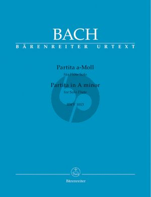 Bach Partita a-minor (BWV 1013) (edited by H.P.Schmitz) (Barenreiter-Urtext)