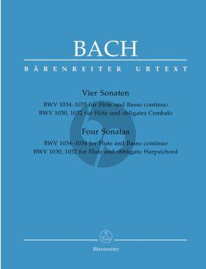 Bach Sonaten BWV 1034 - 1035 - 1030 - 1032 (Authentische) Flöte und Bc (Hans-Peter Schmitz) (revised by Ulrich Leisinger)