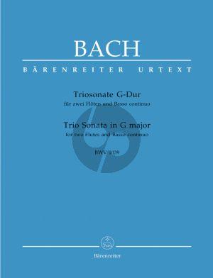 Bach Triosonate G-dur BWV 1039 2 Flöten-Bc (Barenreiter)