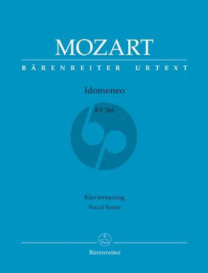 Mozart Idomeneo KV 366 Vocal Score (ital./germ.) (edited by Daniel Heartz)