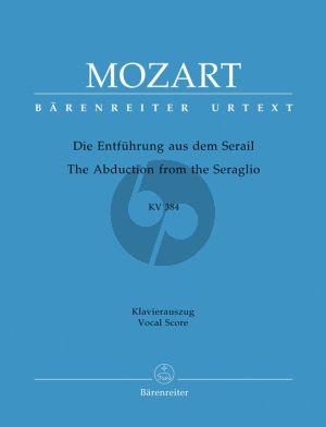 Die Entfuhrung aus dem Serail KV 384 Vocal Score (germ.)