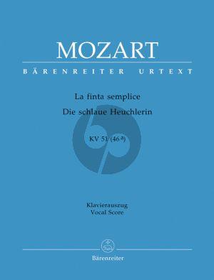 Mozart La Finta Semplice KV 51 (46a) (KA.) (Urtext der Neuen Mozart Ausgabe)