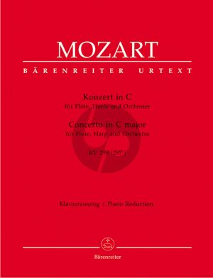 Mozart Concerto C-major KV 299 (297c) Flute-Harp-Orch. (red.flute-harp-piano) (edited by F.Giegling) (Barenreiter-Urtext)