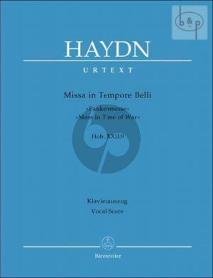 Missa in Tempore Belli (Paukenmesse) (Mass in Time of War) (Hob.XXII:9) (Soli-Choir-Orch.) (Vocal Score)