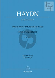 Missa Brevis St.Joannis de Deo (Kleine Orgelmesse) Hob.XXII:17 (Sopr.Solo-SATB- Strings-Organ