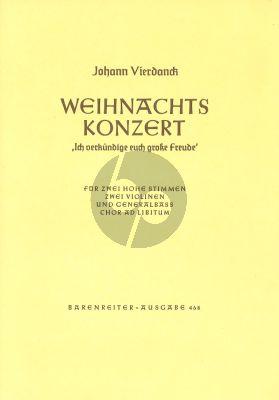 Weihnachtskonzert Hohe Stimme - 2 Violinen und Generalbass