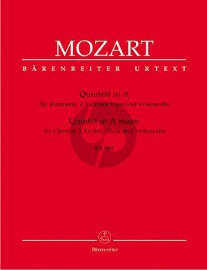 Mozart Quintett A-dur KV 581 (Stadler-Quintet) Klar.[A]-2 Vi.-Va.-Vc. (Stimmen) (Ernst Fritz Schmid) (Barenreiter-Urtext)