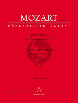 Mozart Konzert No.23 A Dur KV 488 Klavier und Orchester Partitur (Editor Hermann Beck) (Barenreiter Urtext Neuen Mozart Ausgabe)