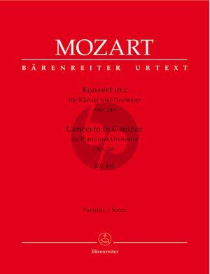 Mozart Konzert c-moll KV 491 (No.24) Klavier-Orchester Partitur (Barenreiter-Urtext)