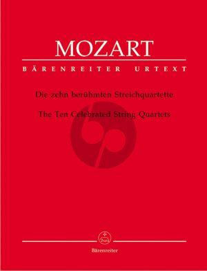 Mozart 10 Beruhmte Streichquartette Stimmen (Ludwig Finscher)