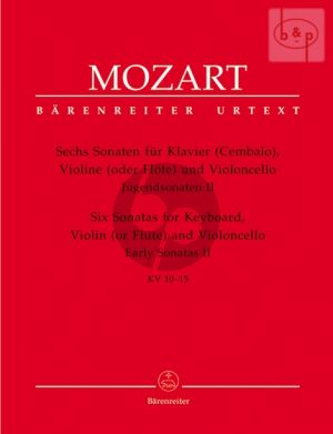 Mozart Jugendsonaten Vol.2 (KV 10-15) (Klavier-Violine [Flöte]-Violoncello) (Part./Stimmen) (Plath-Rehm)