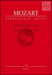 Duos KV 423 - 424 Violine-Viola (Part./Stimmen)