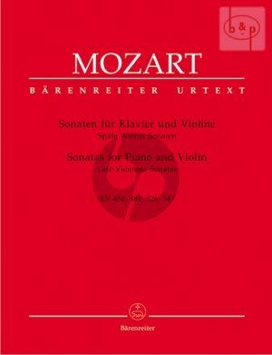 Spate Wiener Sonaten (KV 454 - 481 - 526 - 547