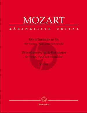 Mozart Divertimento Es-dur KV 563 Violine, Viola und Violoncello (Stimmen) (Herausgegeben von Dietrich Berke) (Barenreiter, Urtext der Neuen Mozart-Ausgabe)