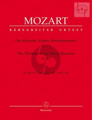 13 Fruhe Streichquartette Vol.1 (KV 80(73f)- 155(134a)- 156(134b)- 157)