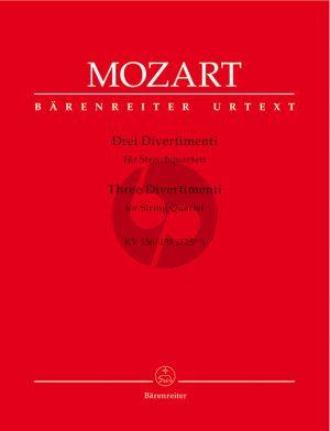 Mozart 3 Divertimenti KV 136 - 137 - 138 (125 A-B-C) 2 Vi.-Va.-Vc. (Stimmen)