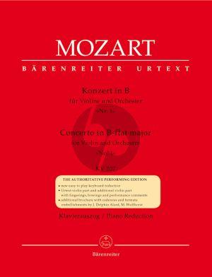 Mozart Concerto No.1 B-dur KV 207 Violin-Piano (Christoph-Hellmut Mahling)
