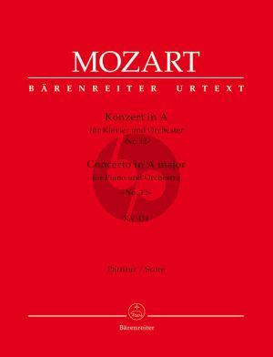Konzert A-dur KV 414 Klavier-Orchester Partitur