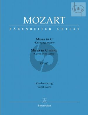 Missa C-major KV 317 (Kronungs-Messe) (Soli-Choir-Orch.) (Vocal Score)