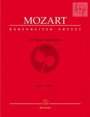 Te Deum C-major KV 141(66b) (SATB-Orch.) (Full Score)