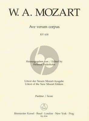 Ave Verum Corpus KV 618 SATB-Strings-Organ Score