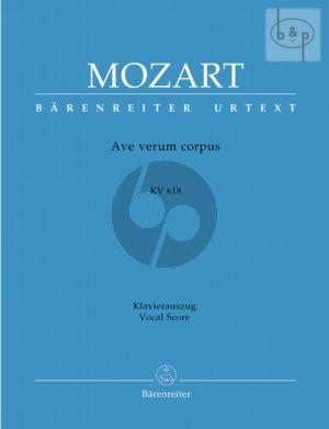 Mozart Ave Verum Corpus KV 618 SATB-Organ Vocal Score