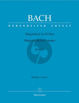 Bach Magnificat D-dur BWV 243 Partitur (2. Fassung mit 4 Einlagesätzen der Es-Dur-Fassung (transponiert)) (Herausgegeben von Alfred Durr - Barenreiter Urtext)