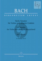 6 Sonaten Vol.2 (c-moll/f-moll/G-dur) Violine und Obligates Cembalo
