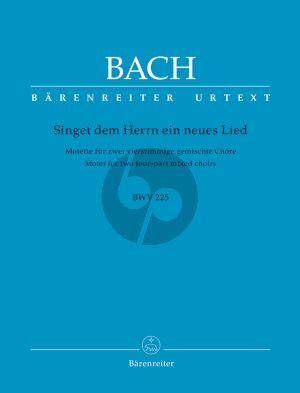 Bach Singet dem Herrn (BWV 225) (Motette SATB/SATB) (Urtext Neue Bach-Ausgabe)