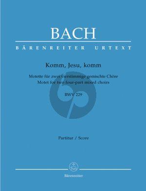 Komm Jesu Komm BWV 229 (Motette SATB-SATB)