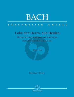 Bach Lobet den Herren (BWV 230) (SATB) (Urtext Neue Bach Ausgabe)