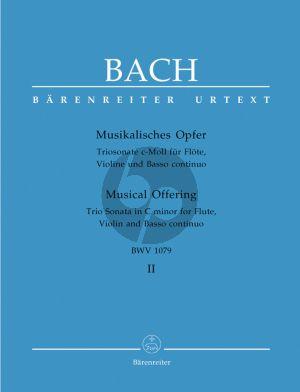 Bach Trio Sonate c-moll BWV 1079 Flote, Violine und Basso Continuo (aus Musikalisches Opfer Vol.2) (Urtext der Neuen Bach-Ausgabe)