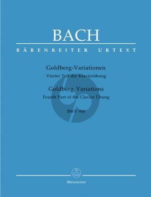 Goldberg Variations BWV 988 (Fourth Part of the Clavier Übung) (edited by Christoph Wolff)