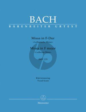 Bach Messe F-dur BWV 233 (Lutherische Messe) (KA.) (Urtext der Neuen Bach-Ausgabe)