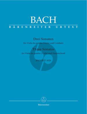 Bach 3 Sonaten (BWV 1027 - 1029) (edited by Hans Eppstein) (Barenreiter-Urtext)
