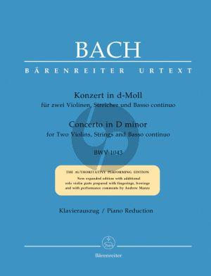 Bach Konzert d-moll BWV 1043 2 Violinen-Streicher und Bc (Klavierauszug) (Dierich Kilian)