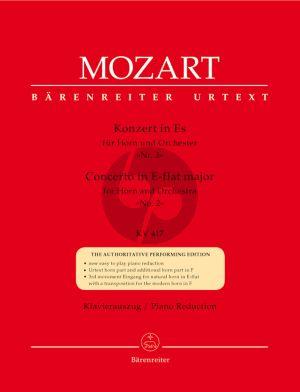 Mozart Konzert No.2 Es-dur KV 417 (Horn Eb/F) (Barenreiter-Urtext) (Schelhaas) (Eingangen von Brown und Nunns)