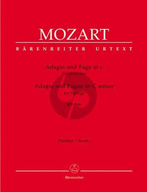 Mozart Adagio und Fuge c-moll KV 546 (Part./Stimmen) (Wolfgang Plath) (Barenreiter)
