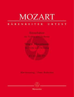 Mozart Einzelsätze KV 261-269(261a)-373 Violin-Piano (edited by Christoph-Hellmut Mahling) (Barenreiter-Urtext)