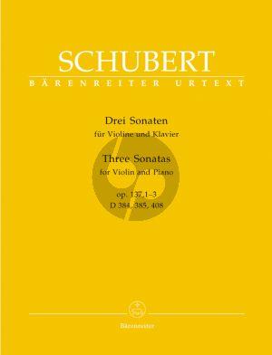 Schubert 3 Sonatinen Op.137 No. 1 - 2 - 3 Violine und Klavier (D.384 - 385 - 408) (Helmut Wirth)