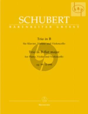 Trio B-dur Op.99 Violine-Violoncello-Klavier