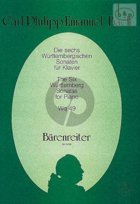 Bach 6 Wurttembergische Sonaten WQ 49 (edited by Rudolf Steglich) (Barenreiter)