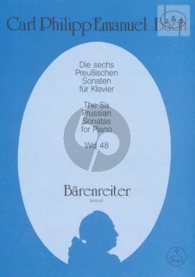 Bach 6 Preussischen Sonaten WQ 48 (edited by Rudolf Steglich) (Barenreiter)