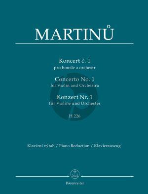 Martinu Concerto No.1 H.226 Violin-Orch. (piano red.)
