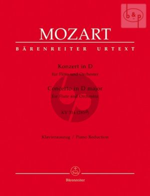 Mozart Concerto D-major KV 314 (285d) Flute-Orchestra (piano red.) (edited by R.Brown & K.Hunteler)