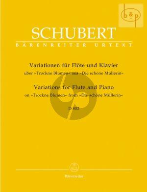 """Variations uber """"Trockene Blumen"""" D.802 OP.Posth. 160"""